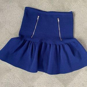 Sandro Blue mini flare skirt